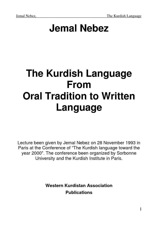 Kurdipedia - The History of Kurdish Language